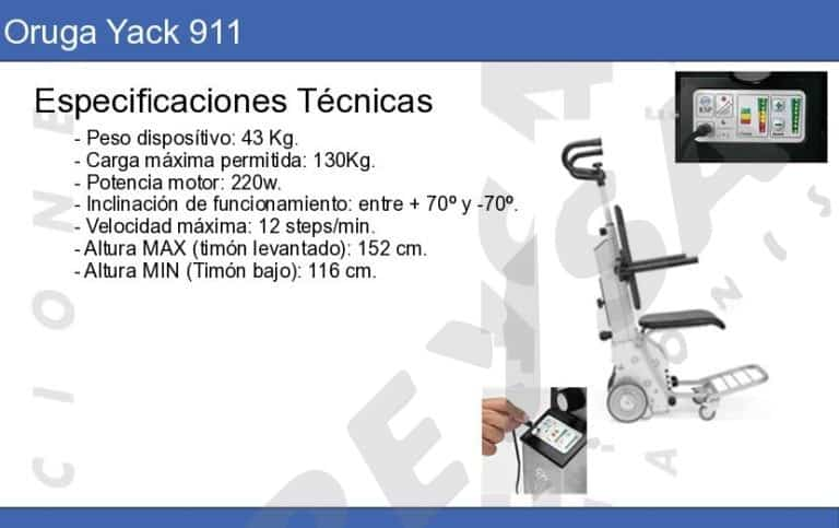 salvaescaleras portatil oruga yack 911