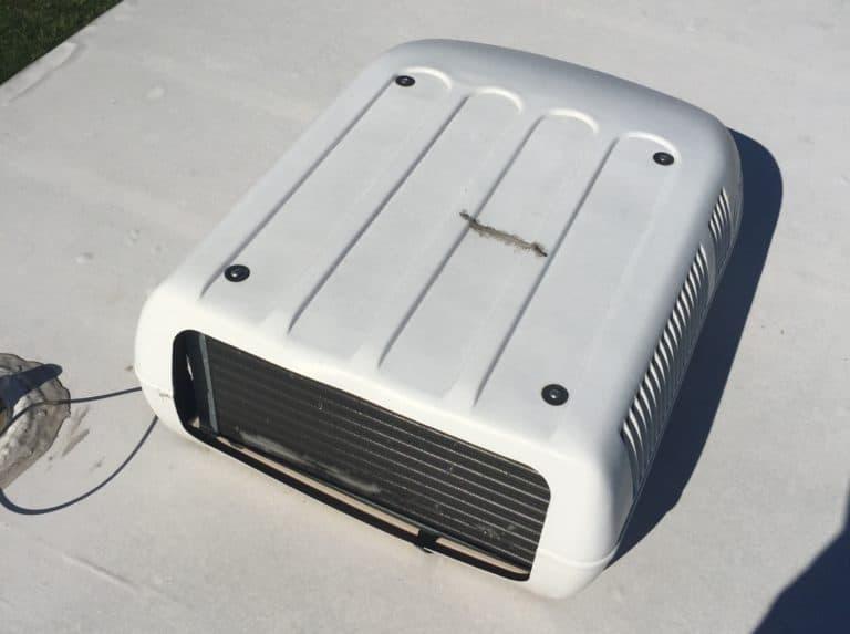 cracked air conditioner shroud top