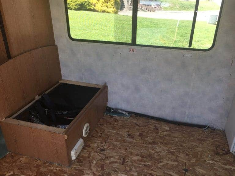 rv booth removed no carpet