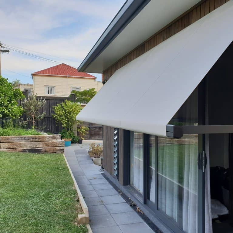 Vertigo Drop Arm Awning in Grey Lynn