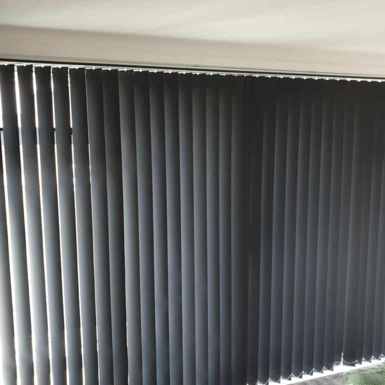 Blockout vertical blinds in Glenfield