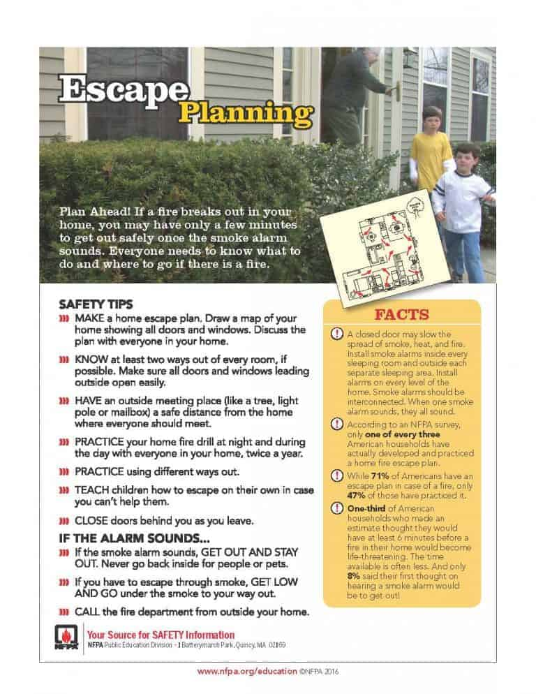 fire escape planning tips