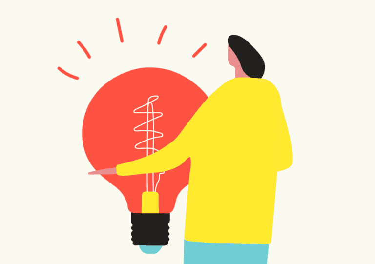 Illustration Of A Man Hugging A Light Bulb - Creative Agency - Citizen Best