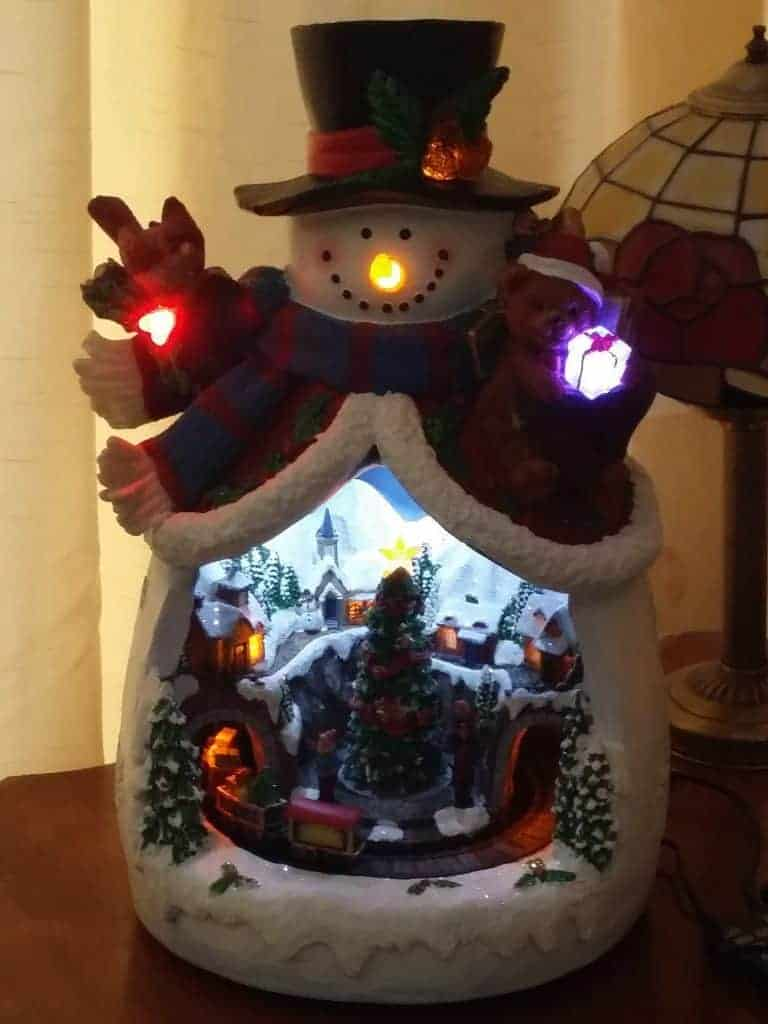 Figurines Qvc Christmas Decoration Snowman Flameless Led Candle Luminary With Timer Home Furniture Diy Tallergrafico Com Uy