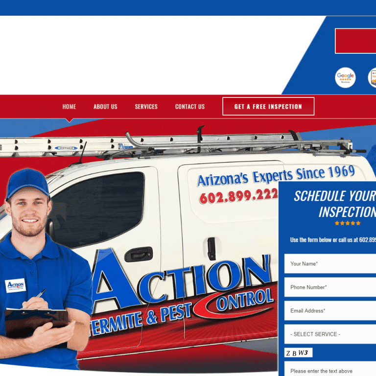Pest Control Web Design