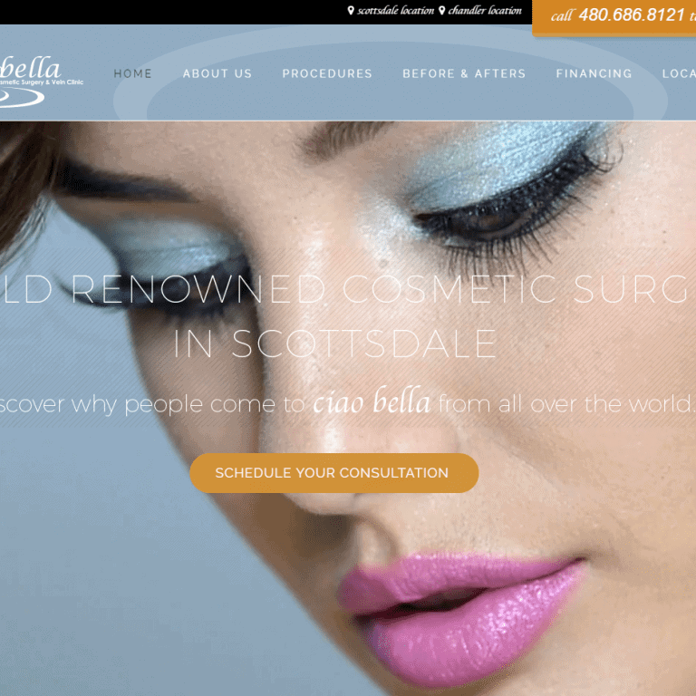 plastic surgery web design
