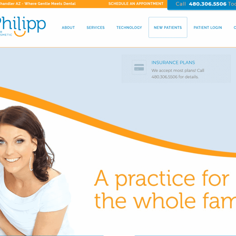 Dental (Dentist dental practice) Web Design