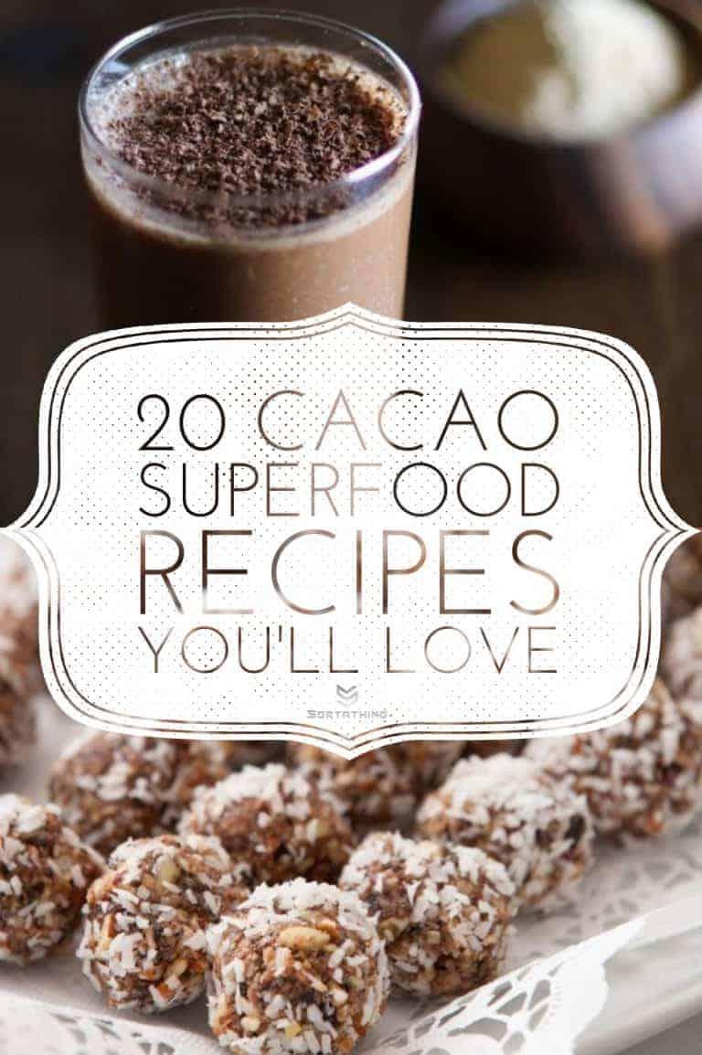 Aphrodisiac Smoothie with Cacao and Maca & Cacao Energy Balls