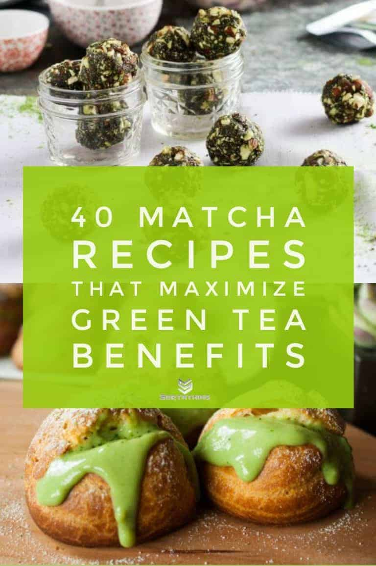 5-Ingredient Matcha Green Tea Energy Bites & Matcha Cream Puffs