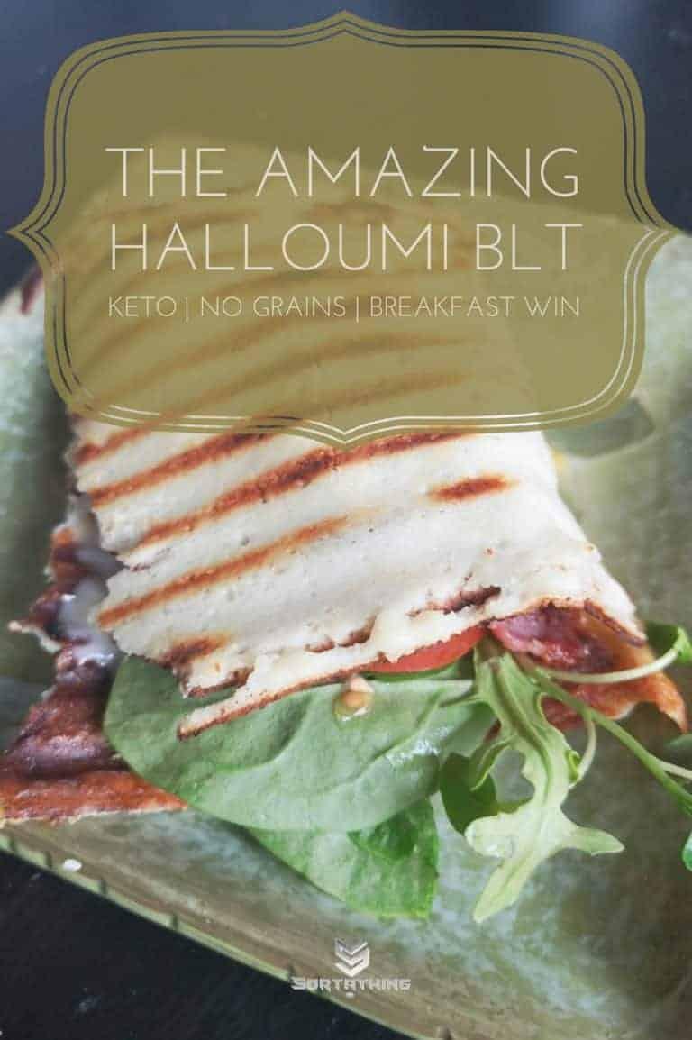 Low Carb Halloumi BLT Breakfast Sandwich Wrap