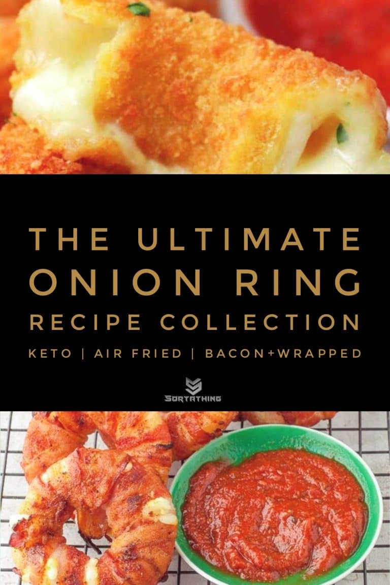 Mozzarella Stick Onion Rings & Bacon-wrapped Pineapple Mozzarella Rings