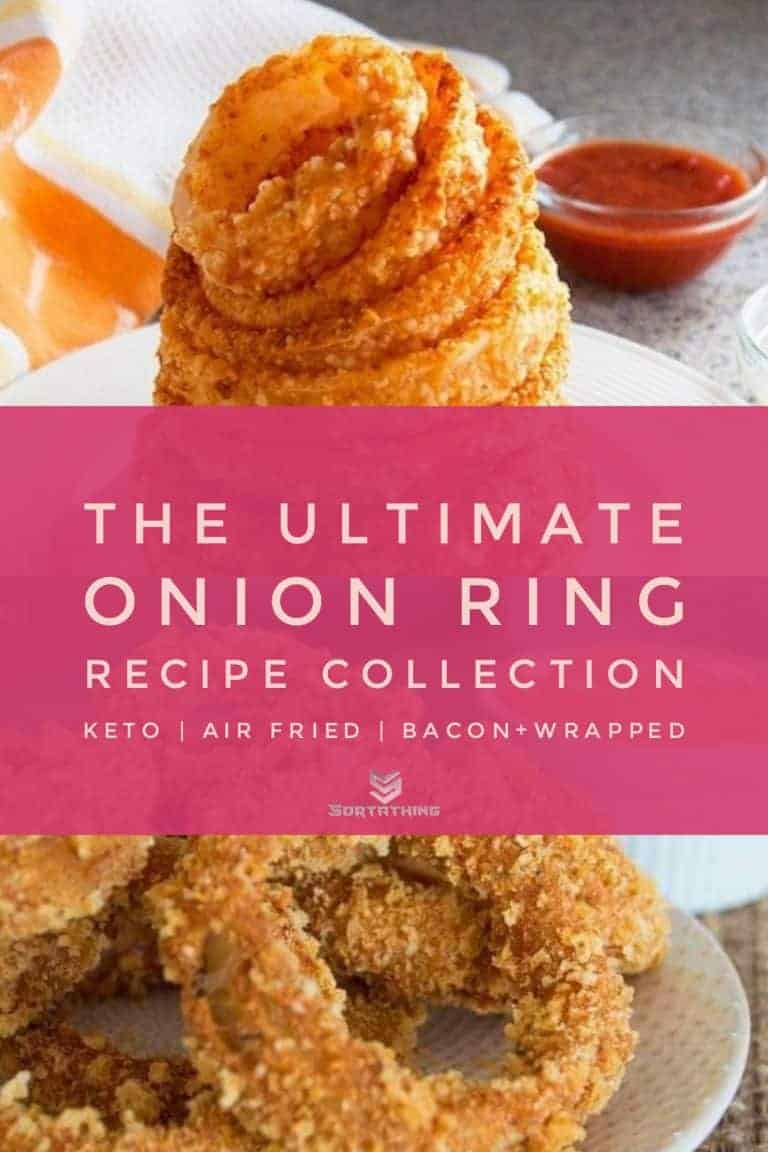 Baked Gluten-Free Parmesan Onion Rings & Paleo Onion Rings with Spicy Mayo Dip
