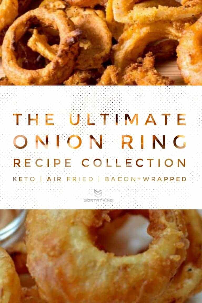 Low Carb Air Fried Onion Rings & Beer-Battered Onion Rings