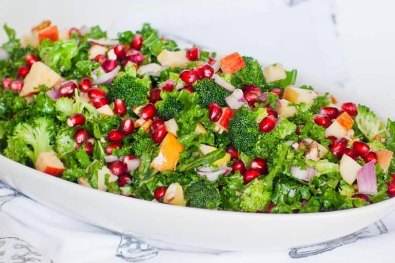 broccoli salad recipe with kale and pomegranate