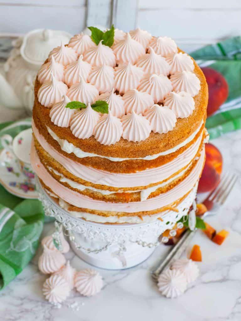 best peach cake recipe with sponge cake