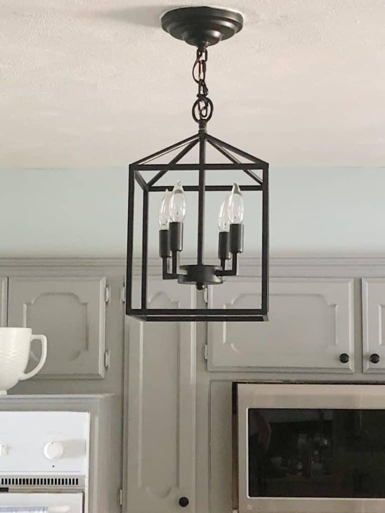 black kitchen pendant light