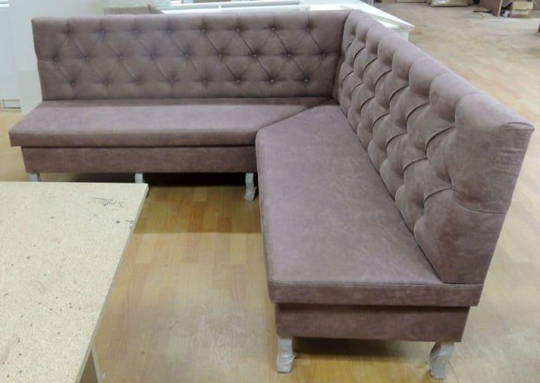 Угловой диван на кухню фото 55