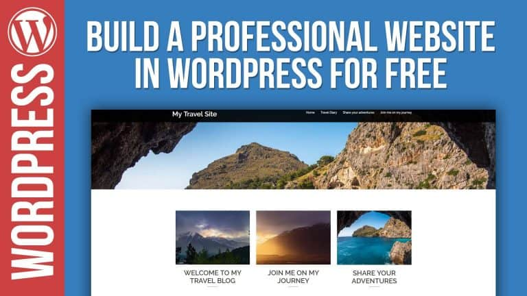 How To Build a Free Website in WordPress