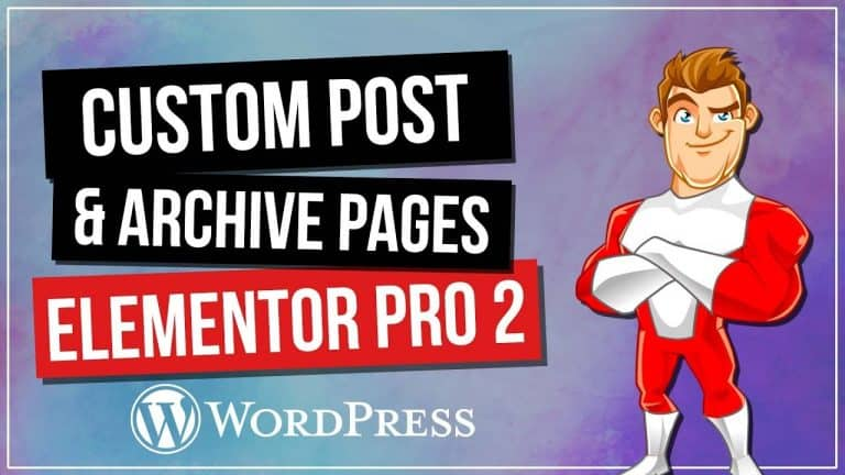 Custom WordPress Pages with Elementor Pro 2.0