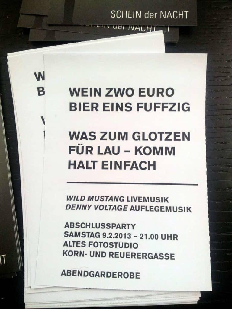 Ausstellung der Semester- und Abschlussarbeiten FH Gestaltung Würzburg Wintersemester 2012/2013