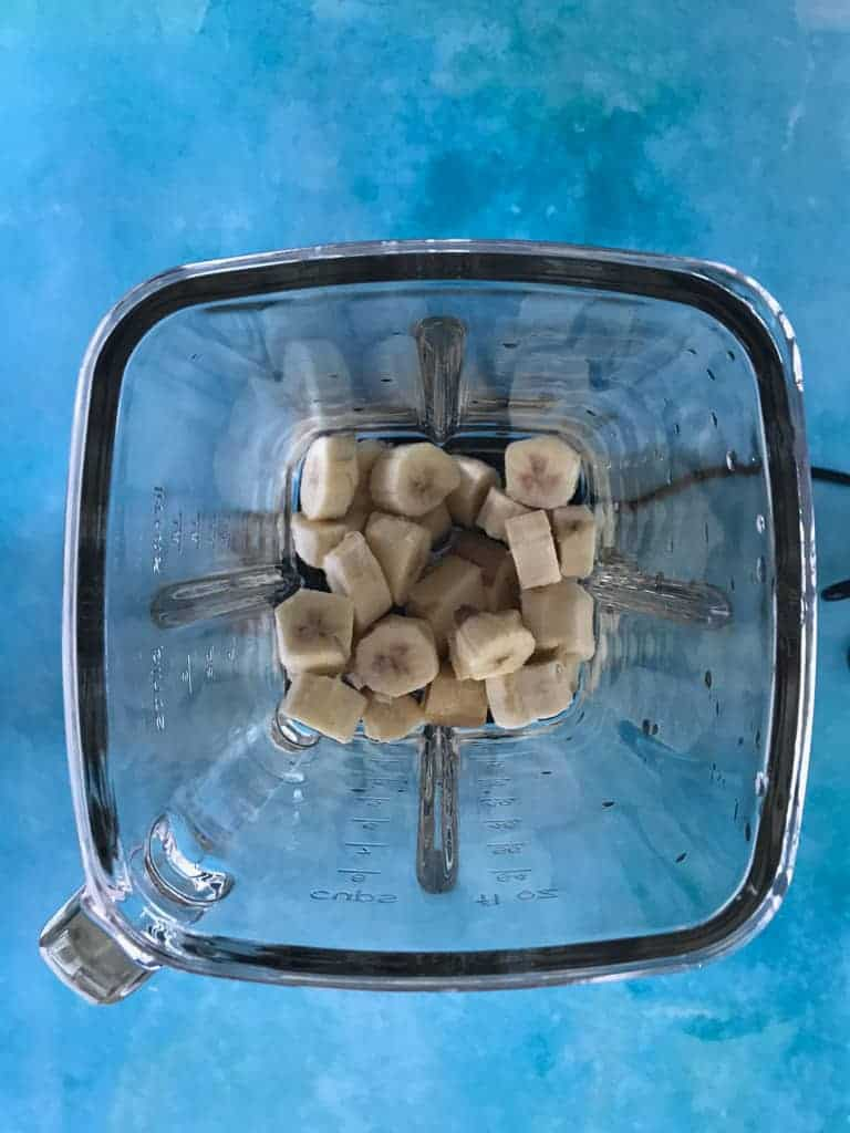 Frozen banana in magimix blender