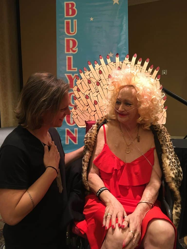 "Camille 2000 in her ""throne"" at the 2019 BHoF Weekender"