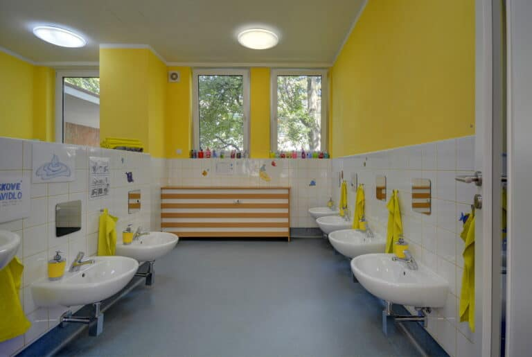 Security and hygiene at royal kindergarten