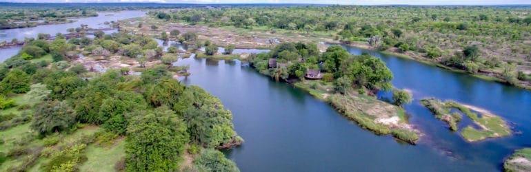 Sindabezi Island Aerial View