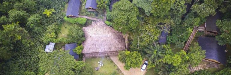 Buhoma Lodge Aerial View