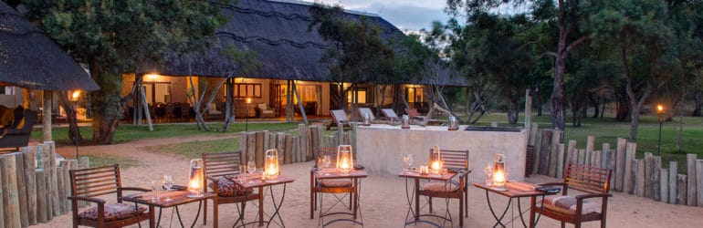 Tintswalo Manor House Outdoor Dining