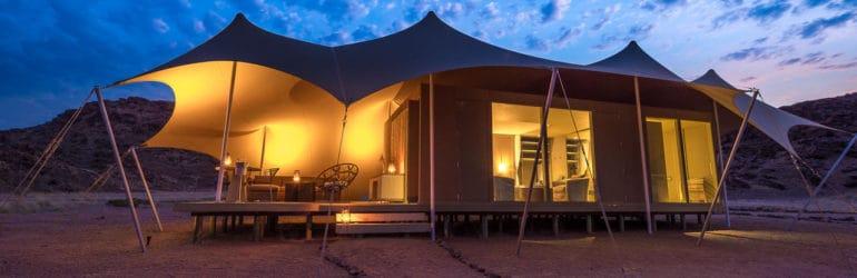 Hoanib Skeleton Coast Tent View