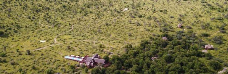 Feline Fields Lodge Aerial View