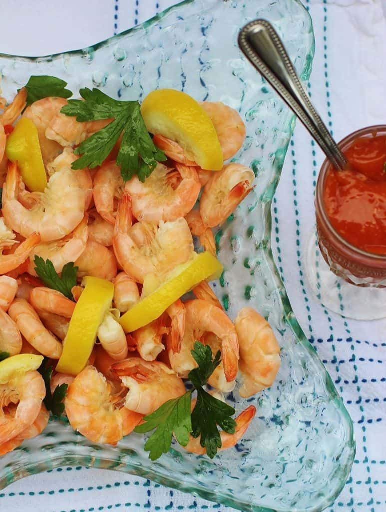 Peel and Eat Shrimp. Wild harvested shrimp boiled in seasoned water. Eaten hold or cold. #shrimp #seafood #gulf #southernfood