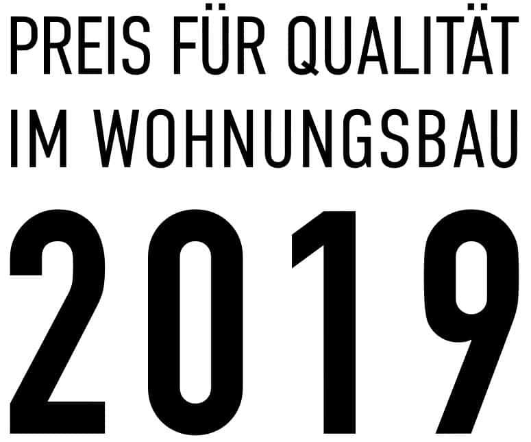 Logo des Preis für Qualität im Wohnungsbau 2019, Grafik: Copyright ByAk