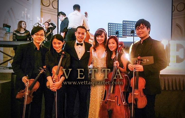 String Quartet for Wedding at Chijmes Hall