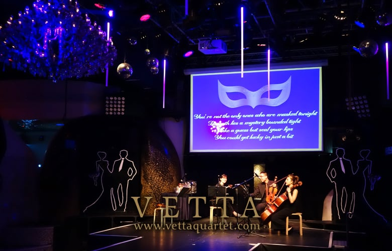 String Quartet for Masquerade Party at Zouk