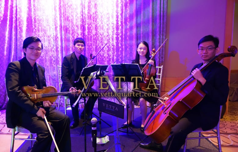String Quartet for Wedding at The Fullerton Hotel