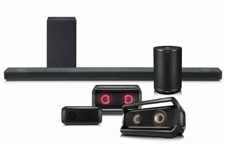 Nueva gama de audio LG CES 2018