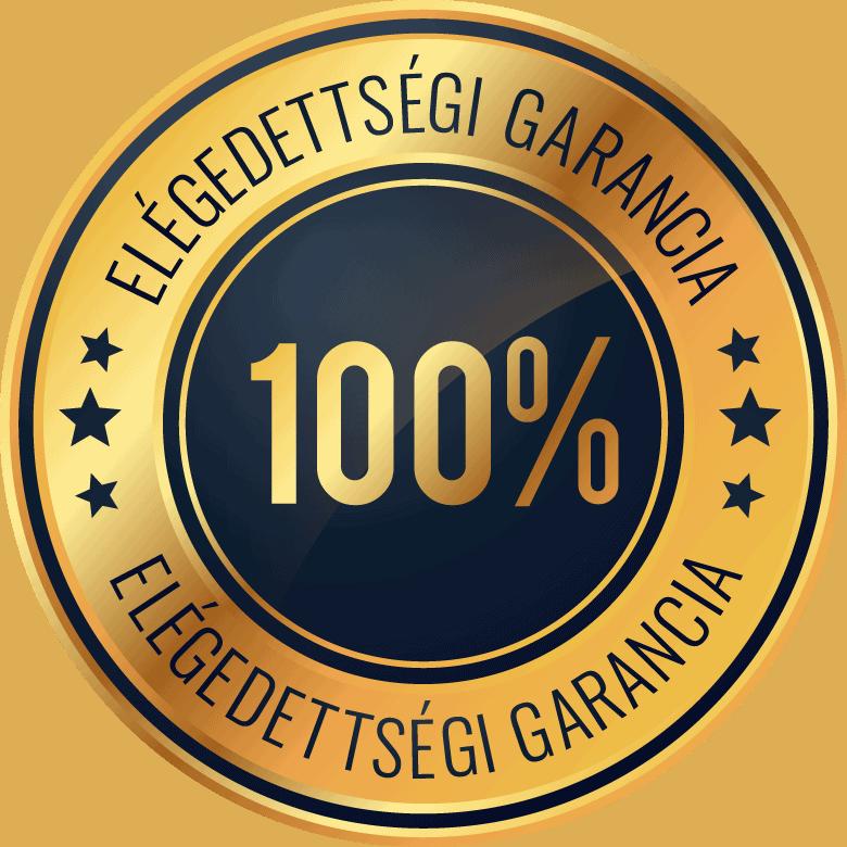 100 százalék elégedettségi garancia