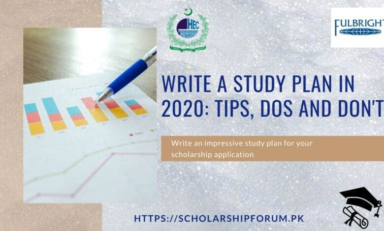 Write a Study Plan in 2020