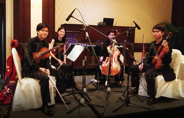 string quartet singapore - wedding at swisshotel