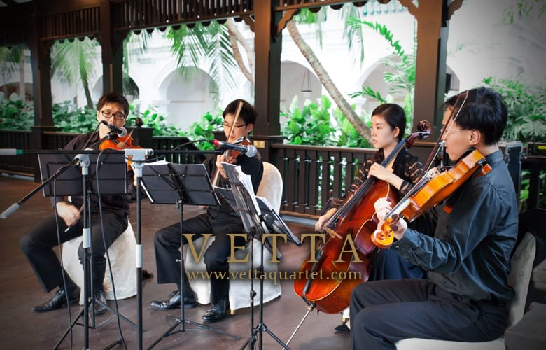 raffles hotel the lawn wedding string quartet