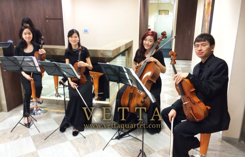 String Quartet Performance - Servcorp Singapore - Music at Marina Bay Financial Centre - Opening Celebration