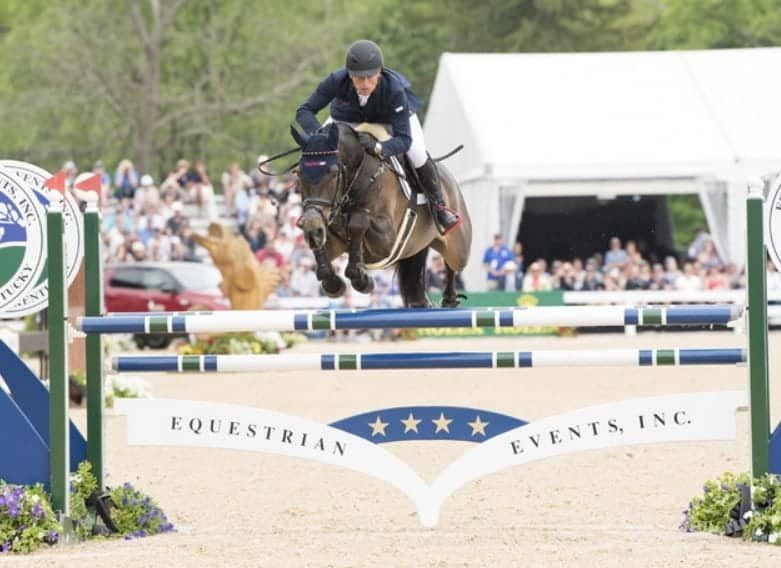Michael Jung (GER) and FischerRocana FST win at Kentucky, third leg of the FEI Classics™, for the third consecutive year. (FEI/Rebecca Berry)