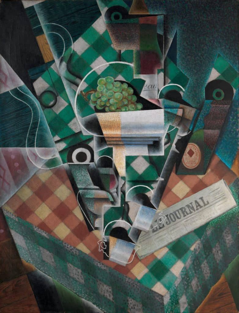 Cubist art,Juan Gris, Still Life with Checked Tablecloth, 1915.