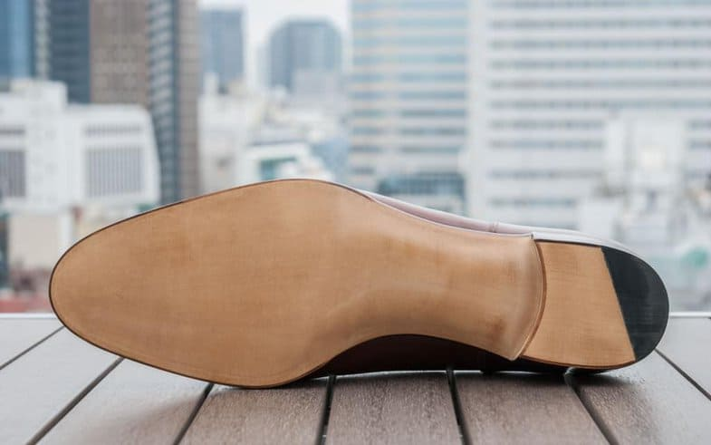 The sole on the finished shoe by Hiro Yanagimachi. Both are excellent, and you can't see from the outside the quite large differences inside.