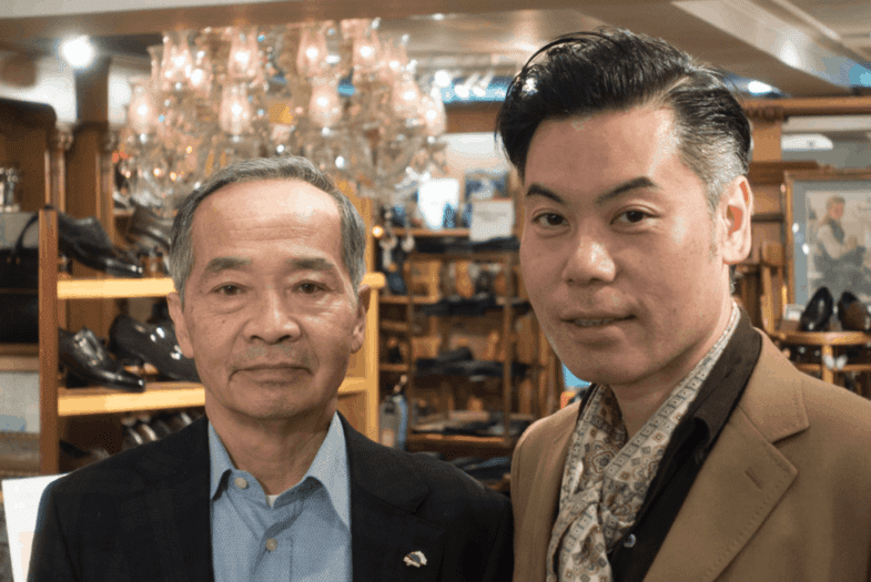 To the left Keiichi Fukada, founder and owner, to the right Ryosuke Hidaka, Director for all WFG stores.