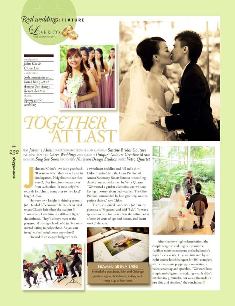 Amara Sanctuary Singapore Wedding Press Feature