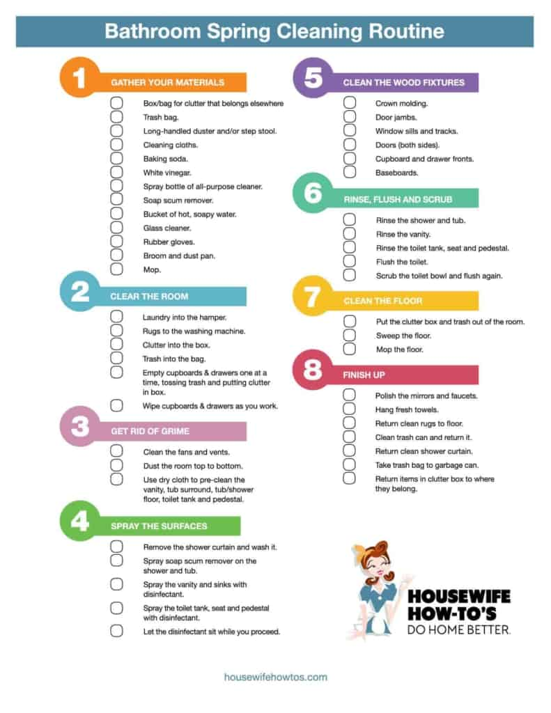 Cleaning Checklists Free Printable Home Routines