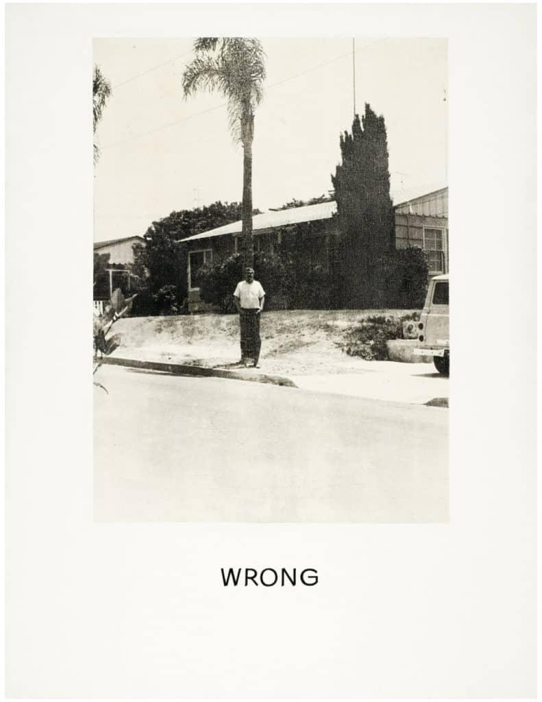 Wrong (1967) by John Baldessari